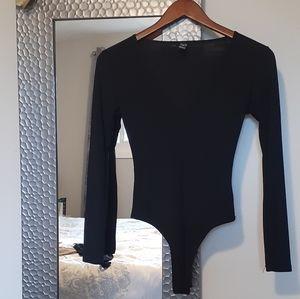 Windsor Black Bodysuit long sleeve- SZ XS